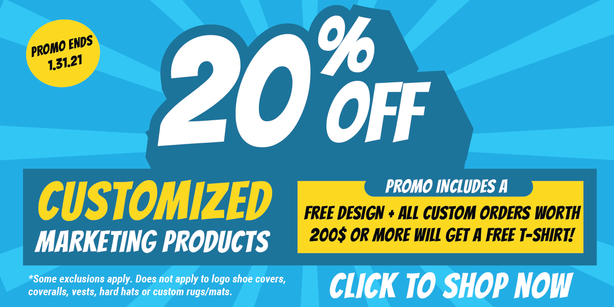 20% off Marketing Products NOW